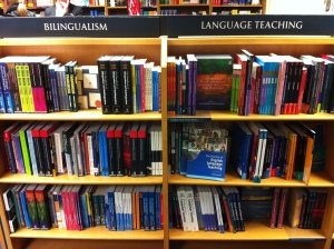 Bilingualism and Language Education books - how many Multilingual Matters books can you spot?