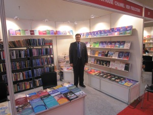 Govinda, our Indian Rep, at the World Book Fair in New Delhi