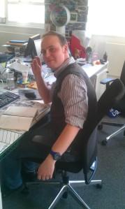 Tom hard at work