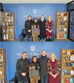 Tommi and Laura with Hamish, Smita and Carol at UTP