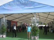 Laura at the Hay Festival