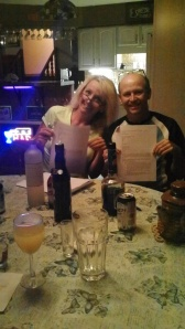 Tammy and Peter with their signed contract