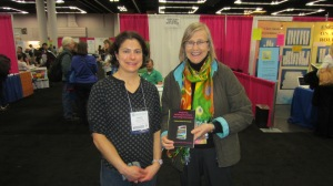 TESOL delegate with Johnnie Johnson Hafernik, co-author of the book