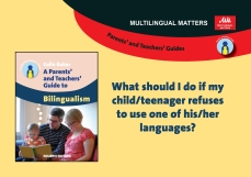 What should I do if my childteenager refuses to use one of hisher languages