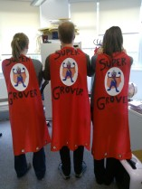 The team with their capes