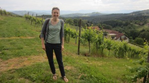 Laura enjoying the Austrian wine region