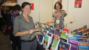 Some wildlife enjoying our books!