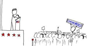 """""""Wikipedian Protester"""", by Randall Munroe (CC-BY-NC 2.5)"""