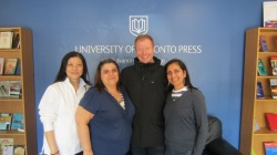 Tommi with Dolores, Bessie and Smita during our visit to UTP