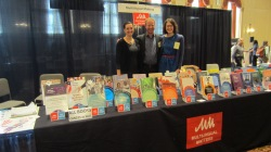 Kim, Tommi and Laura manning the stand at AAAL