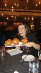 Kim and the Yorkshire puddings!