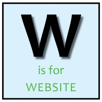 W is for Website