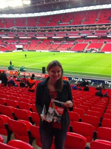 Sarah at Wembley