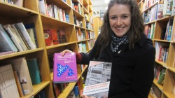 Laura with some of our titles found in a bookshop in Portland