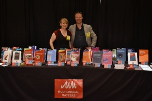 Anna and Tommi promoting our books at AAAL earlier this year