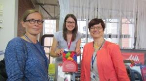 Celebrating our new book with contributor Kristiina Skinnari and editor Tarja Nikula