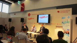 The panel on the Publishing Perspectives stage