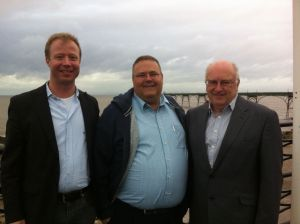 Colin and Wayne with Tommi in Clevedon, 2012