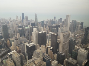 The view from the top of Willis Tower