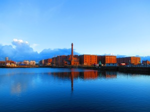 The Royal Albert Dock near the conference centre