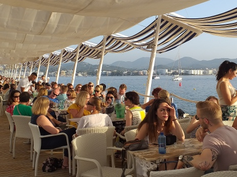 Conference delgates enjoying Cafe del Mar!