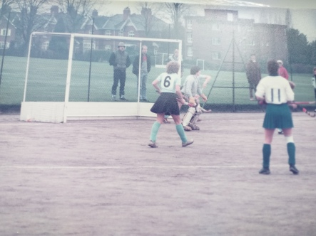 Sarah's mum playing in goal for Devon in the early 80s