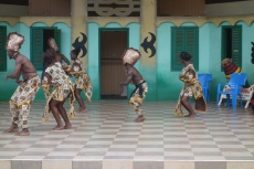 Ashanti dancers at Kumasi Cultural Centre
